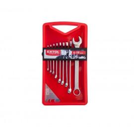 Očko-vidlicové kľúče 9-dielna sada EXTOL 6352