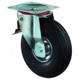 Nafukovacie kolieska vo vidlici otočná kladka s totálnou brzdou