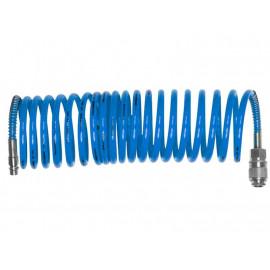 Vzduchová hadica 10 m tlaková špirálová s rýchlospojkami EXTOL 99325