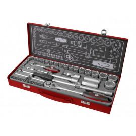 Kľúče nástrčné 1/2´´ a 1/4´´, 4-32mm, 50-dielna sada, 4700002 FORTUM