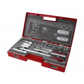 Kľúče nástrčné 1/2'', 8-34mm, 27-dielna sada, 4700014 FORTUM