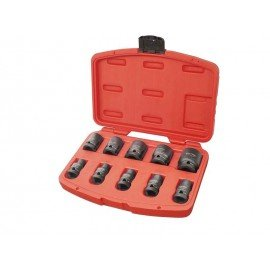 """Rázové nástrčné kľúče, 1/2"""", 10ks, CrMoV, fosfátované, 8818131 EXTOL"""