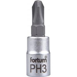 """Hlavica zástrčná 1/4"""" PH3 krížový FORTUM 4701813"""