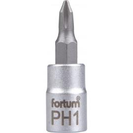"""Hlavica zástrčná 1/4"""" PH1 krížový FORTUM 4701811"""