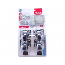 Kolieska pre stohovateľný plastový box 4 kusy EXTOL 8856076