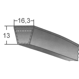 Klinový remeň SPB 2120 Lw/2142 La MAXBELT SLOVAKIA