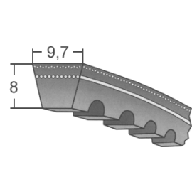 Klinový remeň XPZ 1087 Lw/1100 La MAXBELT SLOVAKIA