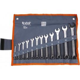Očko-vidlicové kľúče 6-22mm 12-dielna sada EXTOL 6333