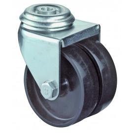 Dvojité prístrojové koliesko 50 mm otočná kladka