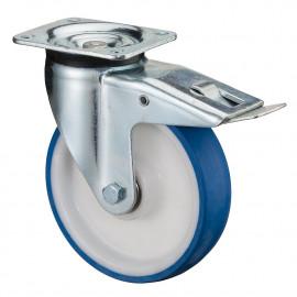 Vysokozáťažové koliesko 125x35 mm otočná kladka s brzdou