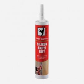Silikón akrylový tmel - transparentný 280 ml DEN BRAVEN 20201RL