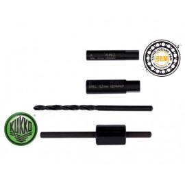 Vyťahovač skrutiek 5-7mm - Vyťahovač skrutiek s vrtákmi a vodiacimi listami 5-7mm /KUKKO 49-U-11