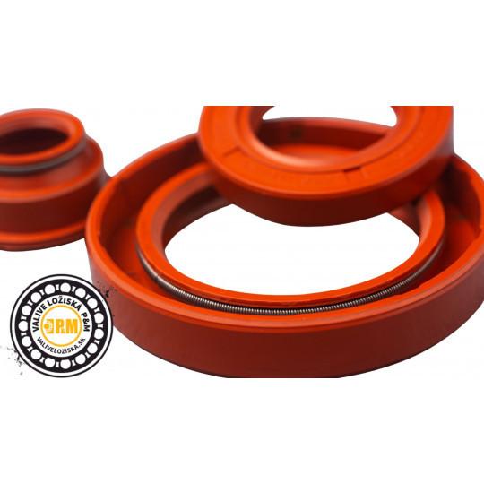 Gufero 30x72x10 GP MVQ  - materiál - silikónová guma odolná teplotám od -50°C do 150 °C