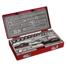 Nastrčné kľúče 1/4'' MultiLock 4-14mm 19-dielna sada FORTUM 4700031