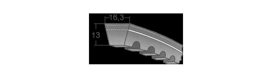 Klinové remene XPB