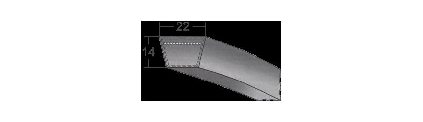 Klinový remeň šírka 22 mm - Valivé ložiská P&M