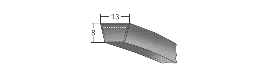 A13 , klinový remeň BANDO