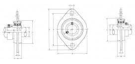 Ložiskové telesá (domce) plechové SAPFL