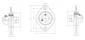 Ložiskové telesá (domce) plechové SBPFL